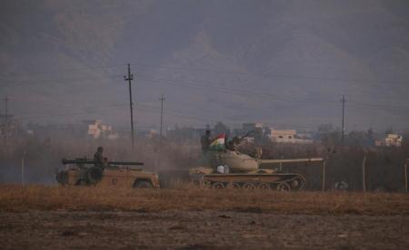 "Photo of ""قوات كردية"" تقتحم قرية بعشيقة شمال الموصل"