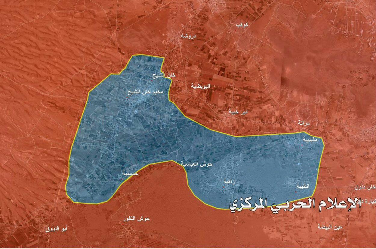 Photo of خريطة – تفاصيل خروج المسلحين من خان الشيح