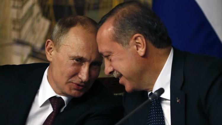"""صورة الكرملين: الرئيسان بوتين وإردوغان """"مرتاحان"""" بعد تحرير حلب"""