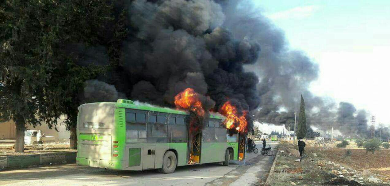 Photo of إعادة 21 سائقا أحرق الإرهابيون حافلاتهم في محيط كفريا والفوعة