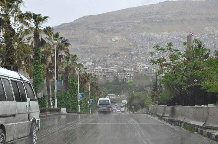 صورة اعتباراً من الثلاثاء .. أمطار غزيرة في دمشق