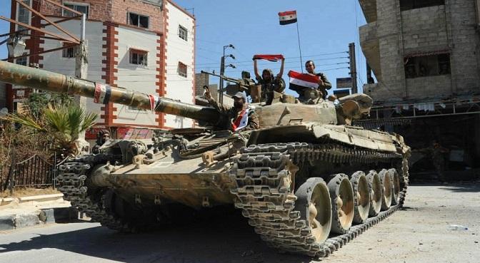 Photo of الجيش يتقدم في الغوطة الشرقية ويفشل هجمات داعش بريف حمص