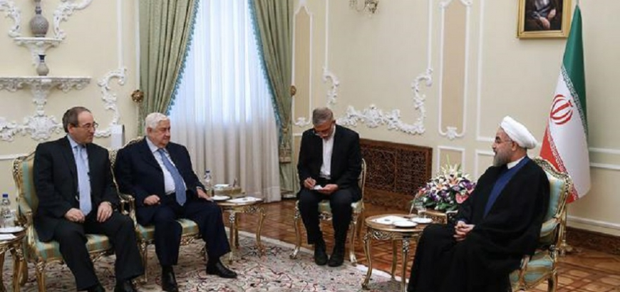 Photo of روحاني للمعلم: إيران مستمرة بدعم سورية حتى تحقيق النصر على الإرهاب