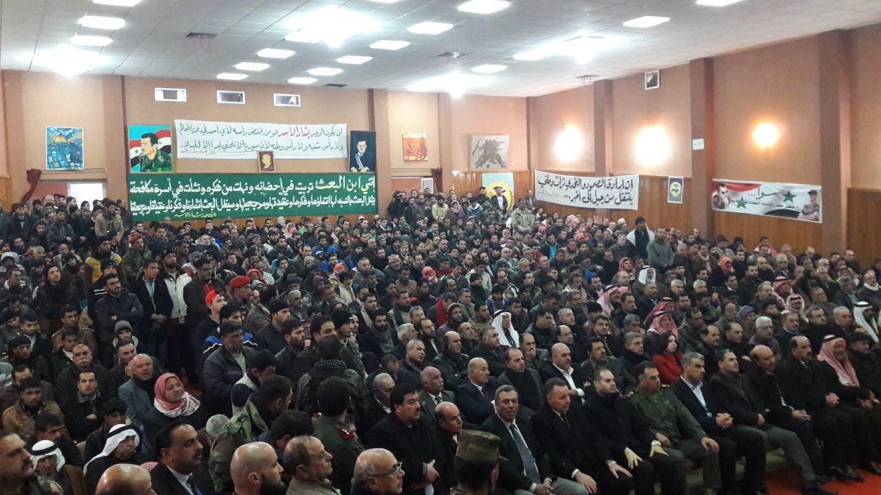 صورة تسوية أوضاع 510 أشخاص من مدينة الصنمين بينهم 150 مسلحاً