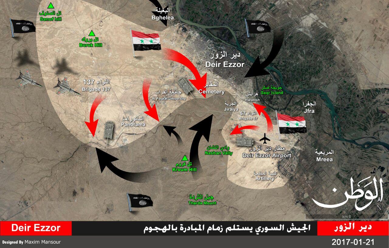 """Photo of مصدر ميداني لـ""""الوطن أون لاين"""": الجيش السوري يستعيد زمام المبادرة في دير الزور"""