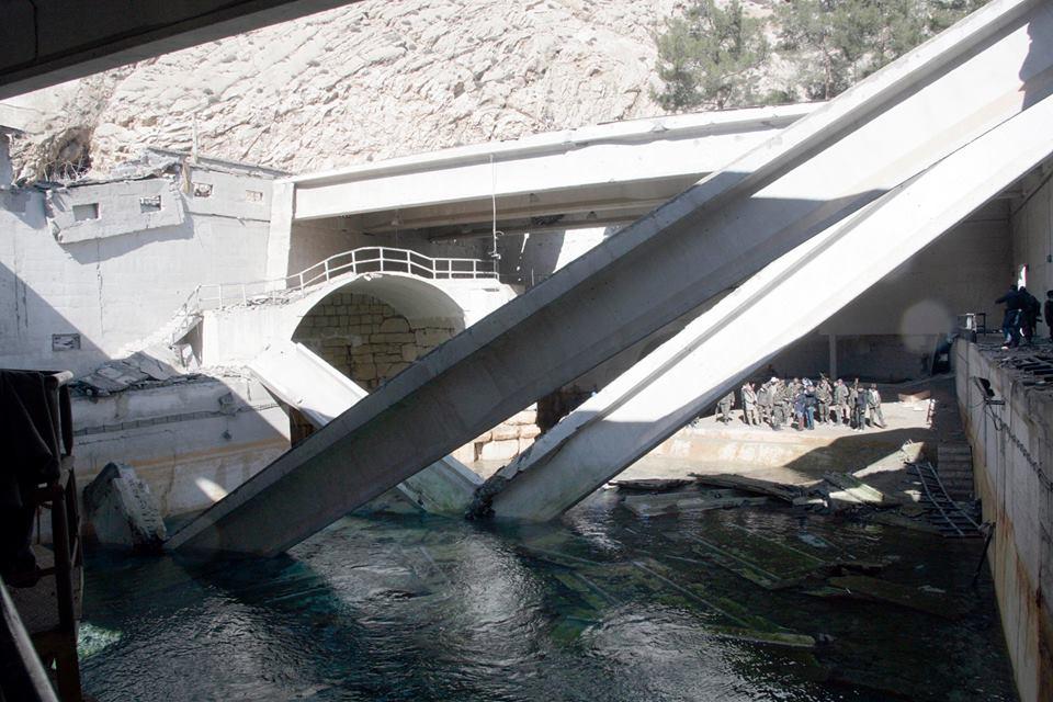 صورة الحسن: مياه عين الفيجة وصلت دمشق وسيبدأ الضخ التدريجي