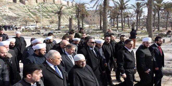 Photo of بتوجيه من الرئيس الأسد.. وزير الأوقاف: ستتم إعادة إعمار المسجد الأموي في حلب وباقي المساجد والكنائس فيها