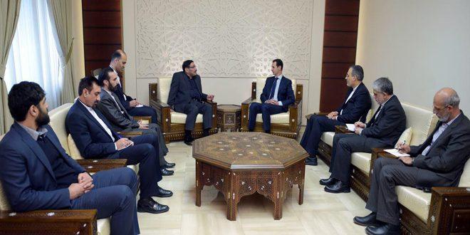 Photo of الرئيس الأسد لشمخاني: تحرير مدينة حلب من قبضة الإرهابيين يشكل محطة مهمة نحو الانتصار في الحرب المفروضة على سورية