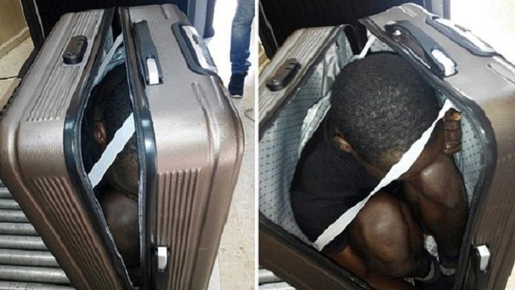Photo of القبض على فتاة حاولت تهريب مهاجر إفريقي عبر حقيبة