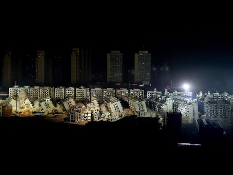 Photo of بالفيديو … 19مبنى في الصين دمرت خلال 10 ثوان