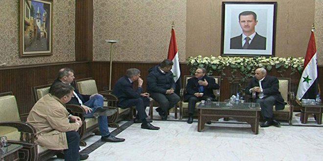 Photo of وفد برلماني بلجيكي يزور سورية