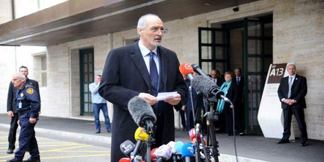 Photo of الجعفري: تطرقنا خلال الإجتماع مع دي ميستورا إلى شكل الجلسات فقط