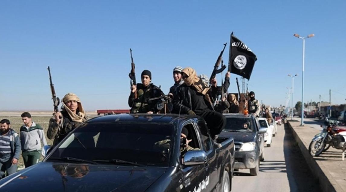 صورة أنباء عن وصول البغدادي إلى بلدة مركدة بريف الحسكة