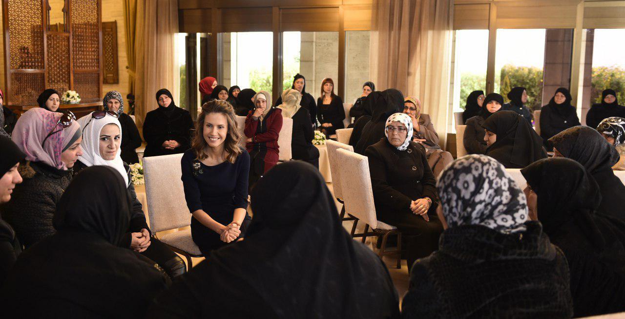 صورة السيدة أسماء الأسد: كل أم في حلب كانت عنواناً للحياة والثبات والاستمرار