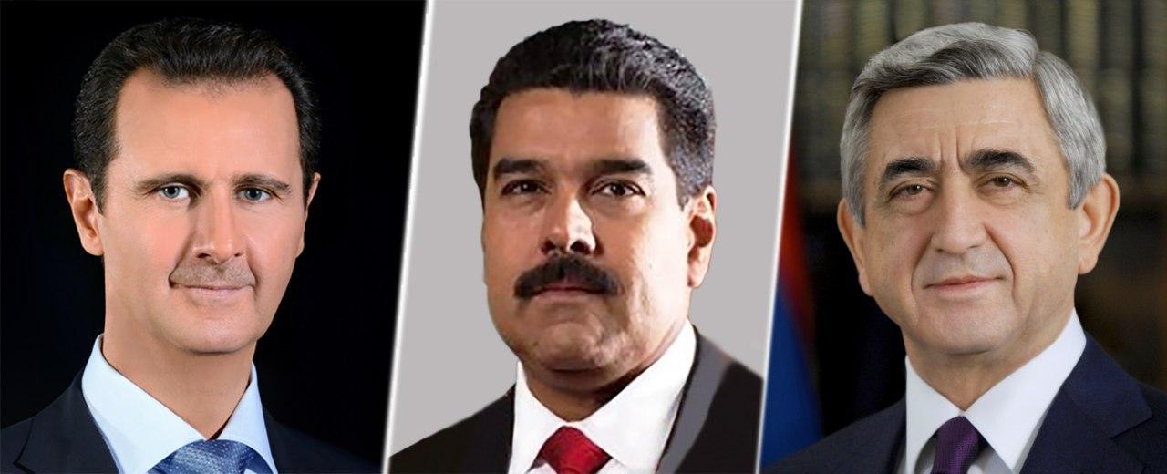 Photo of الرئيس الأسد يتلقّى برقيتي تهنئة من رئيسي فنزويلا البوليفارية وأرمينيا بمناسبة يوم الجلاء