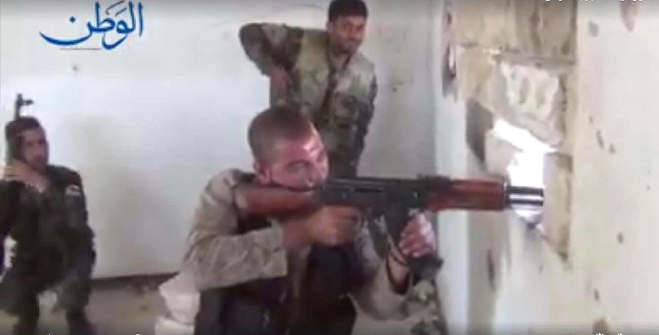 "Photo of بالفيديو.. تصدي الجيش السوري لإرهابيي ""داعش"" بريف حمص الشرقي"