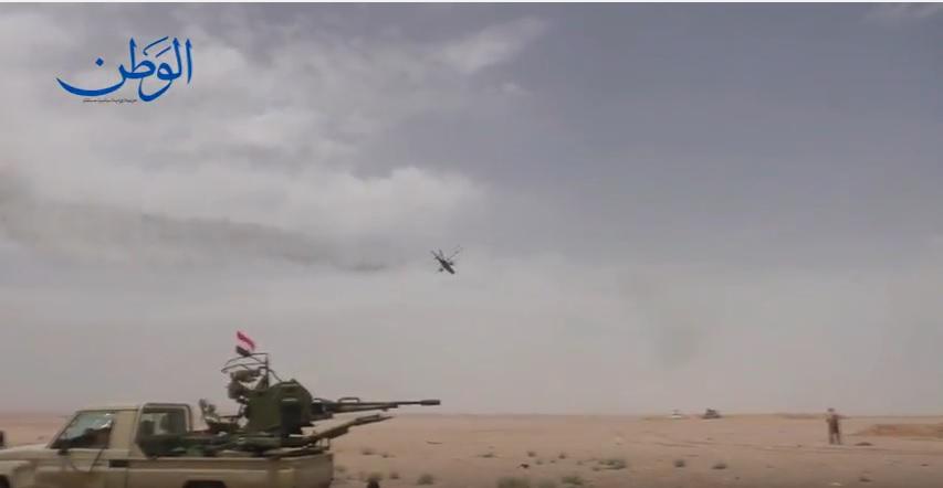 Photo of مشاهد خاصة من عمليات الجيش السوري شرق محمية التليلة على طريق تدمر دير الزور