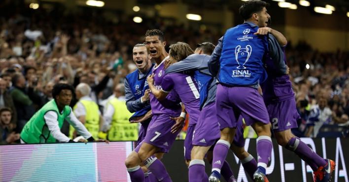 صورة ريال مدريد يحقق الثانية عشرة بأربعة أهداف في مرمى بوفون