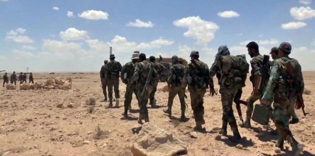 Photo of الجيش السوري يتقدم باتجاه حقل آرك النفطي