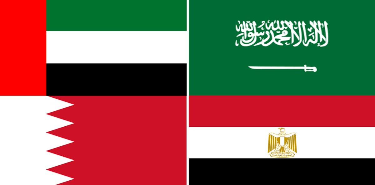 """صورة الدول المقاطعة لقطر تعلن قائمة إرهاب مرتبطة بالدوحة على رأسها """"المحيسني"""" و""""القرضاوي"""""""