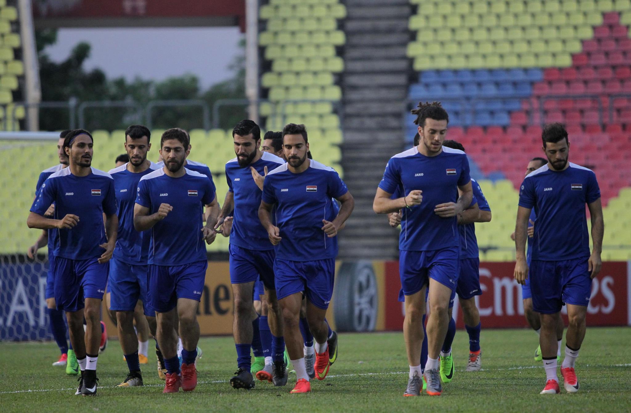 صورة التشكيلة الرسمية للمنتخب الوطني السوري في مباراته أمام قطر