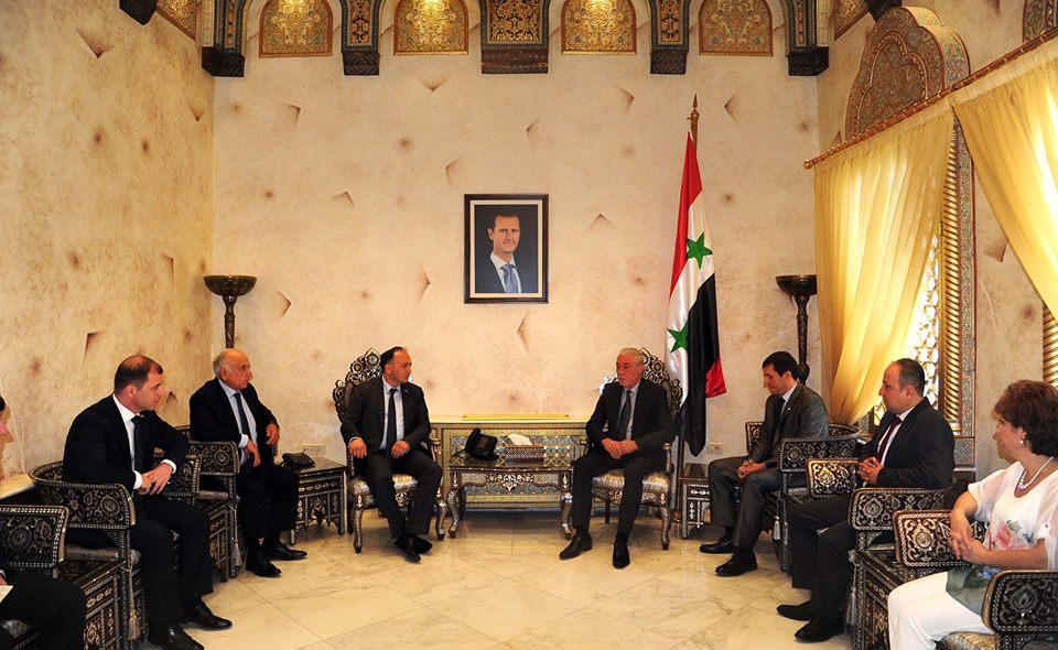 صورة وزير خارجية أبخازيا: وقعنا مع سورية اتفاقات اقتصادية وتجارية