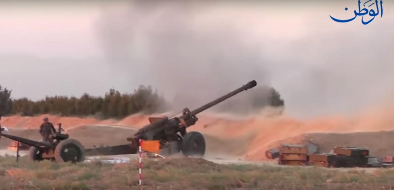 Photo of مشاهد جديدة من العمليات العسكرية في محيط السخنة بريف حمص الشرقي