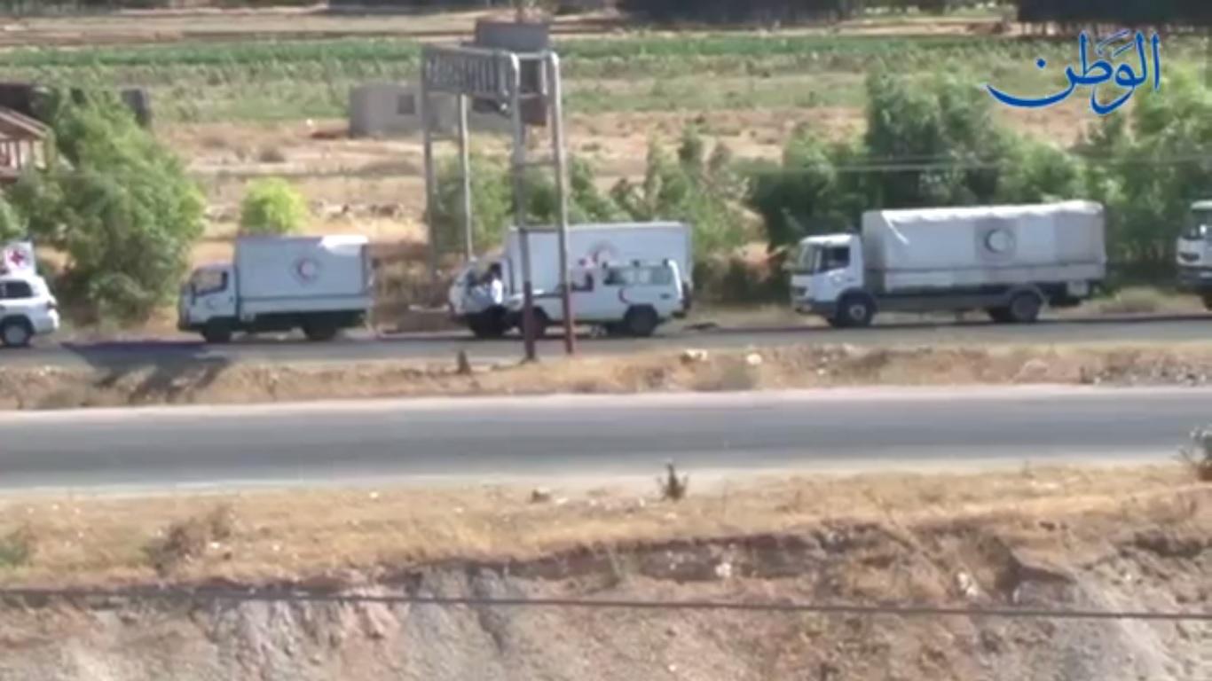 صورة مشاهد من دخول مساعدات إلى ريف حمص الشمالي
