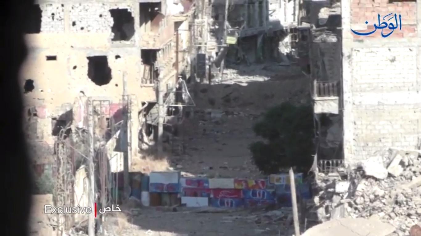 """صورة من خطوط التماس مع تنظيم """"داعش"""" في ديرالزور"""