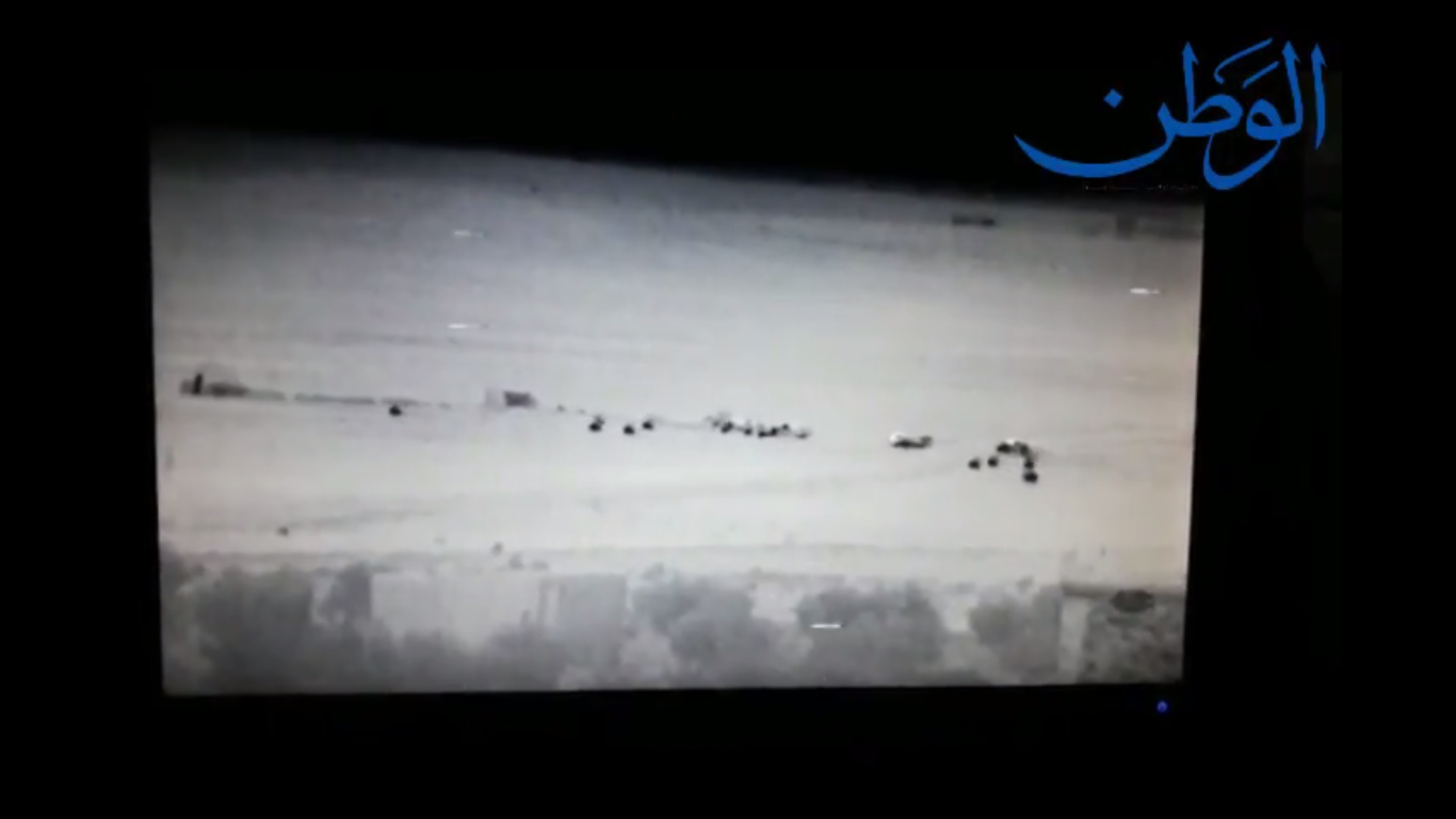 """صورة مشاهد خاصة بـ""""الوطن"""" .. لحظة فرار """"داعش"""" من البوكمال الى مناطق سيطرة """"قسد"""""""