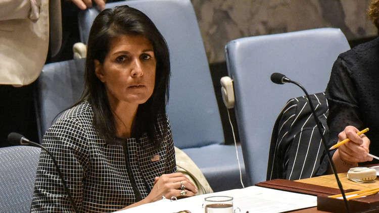 """Photo of هايلي: واشنطن ستواصل """"الكفاح من أجل العدالة"""" بمفردها في سورية"""