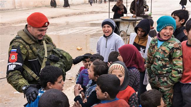 صورة عودة أول كتيبة من الشرطة العسكرية الروسية من سورية