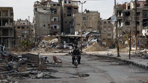 صورة مفاوضات تمهد لتسوية شاملة في الغوطة الشرقية