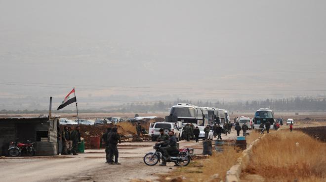 صورة 500 عائلة في طريقها إلى بيت جن بريف دمشق
