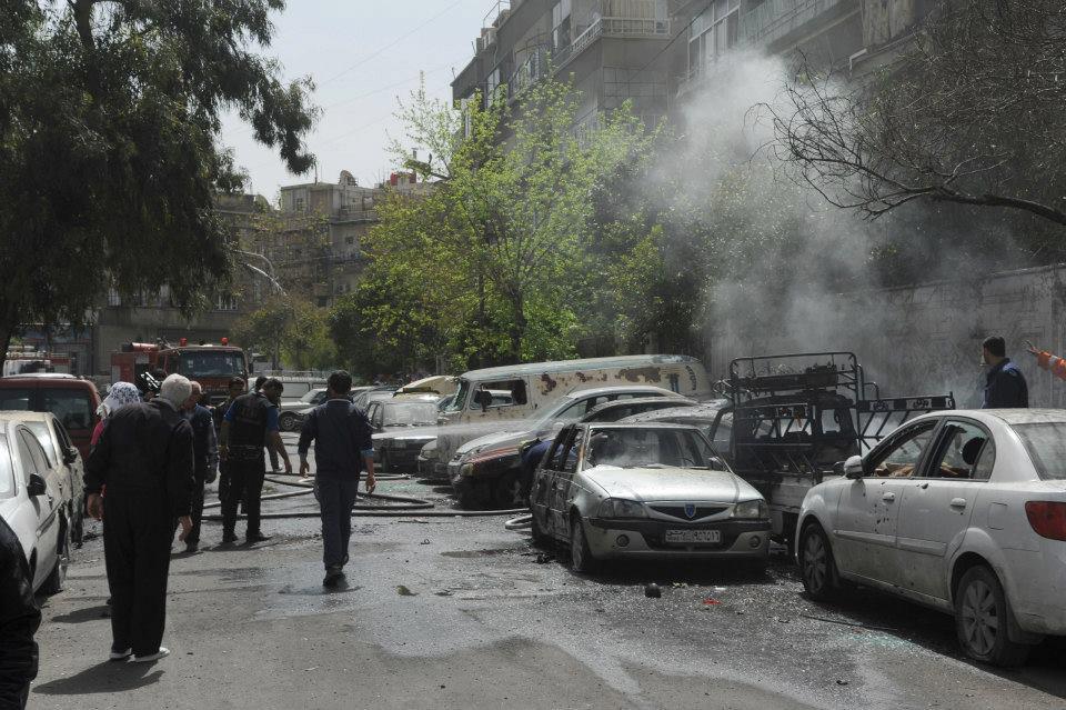 صورة ارتفاع حصيلة الشهداء إلى 9 بقذائف الإرهابيين على حي باب توما بدمشق
