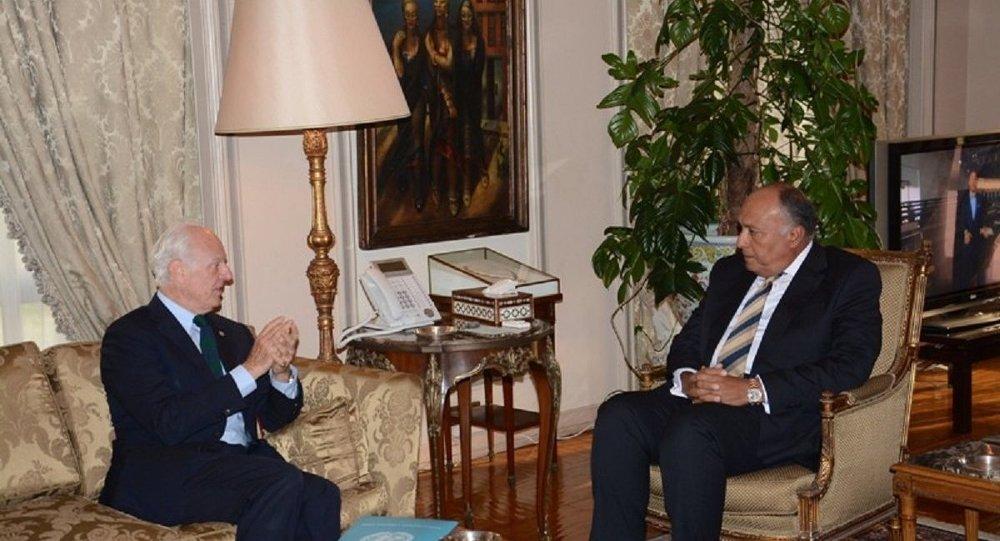 Photo of شكري لديمستورا: مصر ترفض أي تدخل عسكري في سورية