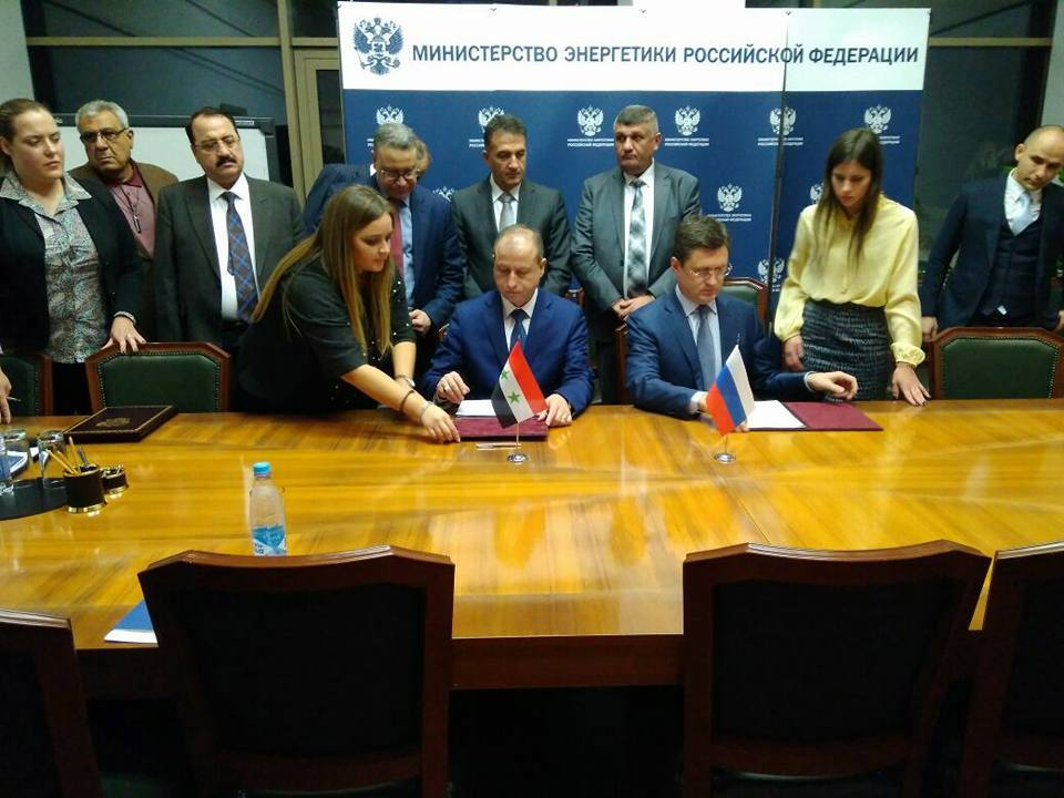 """Photo of """"النفط"""" توقع على بروتوكول تنفيذي لعدد من المشاريع مع شركة """"روسي جيولوجيا"""""""