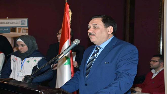 """Photo of وزير المالية من الشهباء: """"كل مؤسسة مجلس الوزراء تحب حلب"""""""