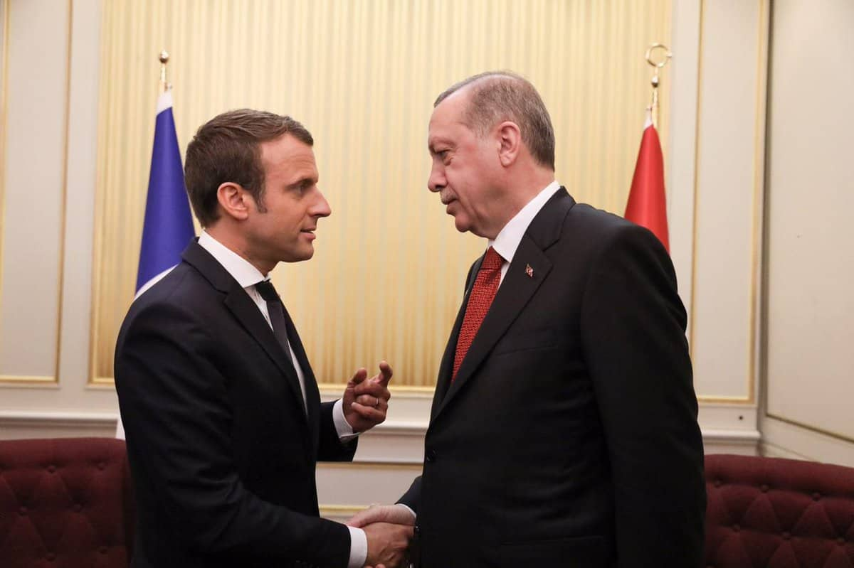 صورة ماكرون لأردوغان: الهدنة في سورية تنطبق على عفرين
