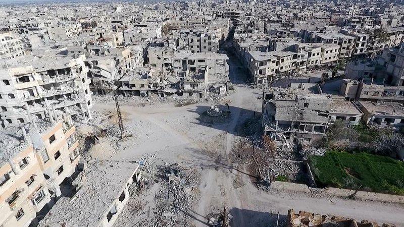 """صورة مواجهات بين المسلحين في الغوطة الشرقية بعد مطالب بانفصال """"فيلق الرحمن"""" عن """"النصرة"""""""