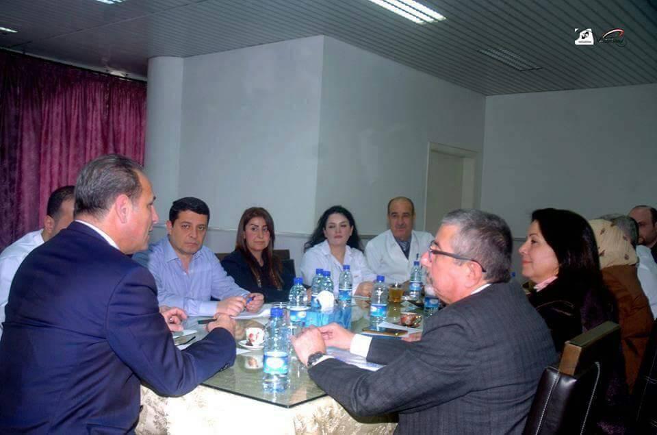 صورة من اللاذقية.. وزير الصحة يشدد على ضرورة توفير المستلزمات الطبية للمشافي