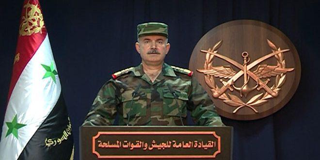 صورة القيادة العامة للجيش: منظومات دفاعنا الجوي تصدت بكفاءة عالية لصواريخ العدوان وأسقطت معظمها -فيديو