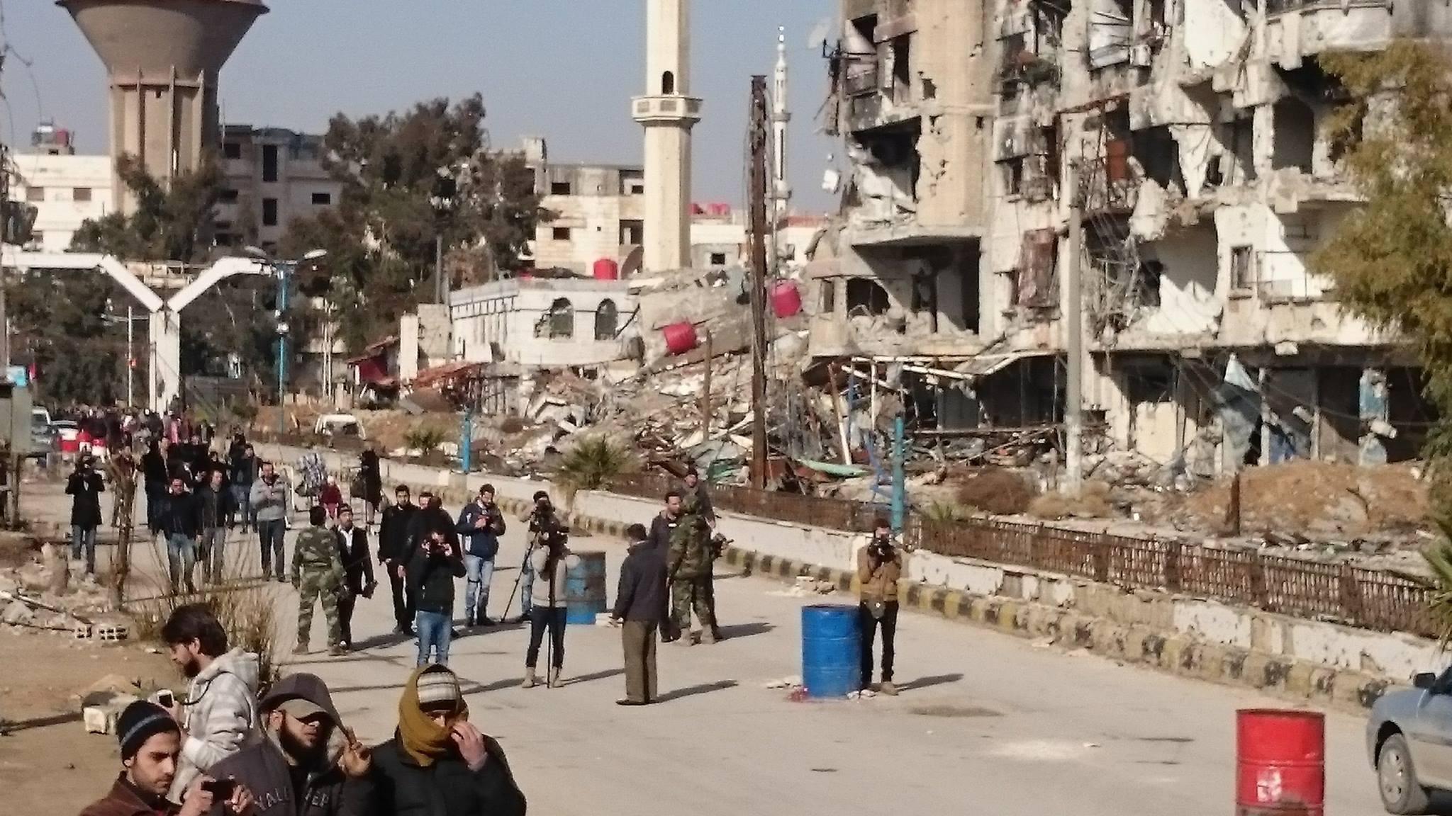 صورة اتفاق لإخراج الإرهابيين من بلدات جنوب دمشق