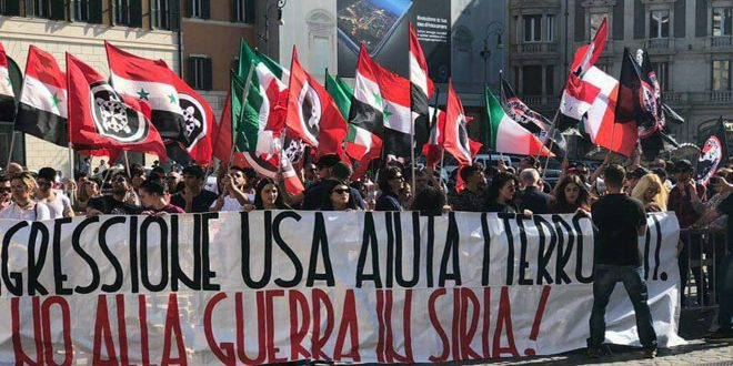 Photo of وقفتان احتجاجيتان في روما ونابولي تنديداً بالعدوان الثلاثي على سورية