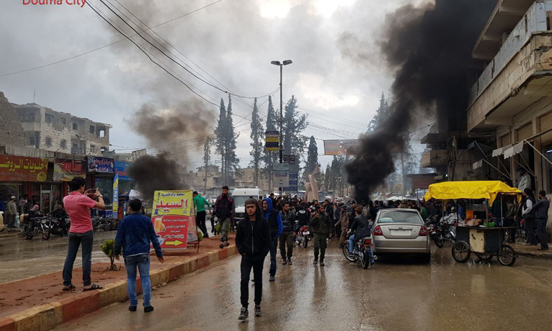 Photo of الاحتلال التركي يفرق تظاهرات «الباب» بالرصاص