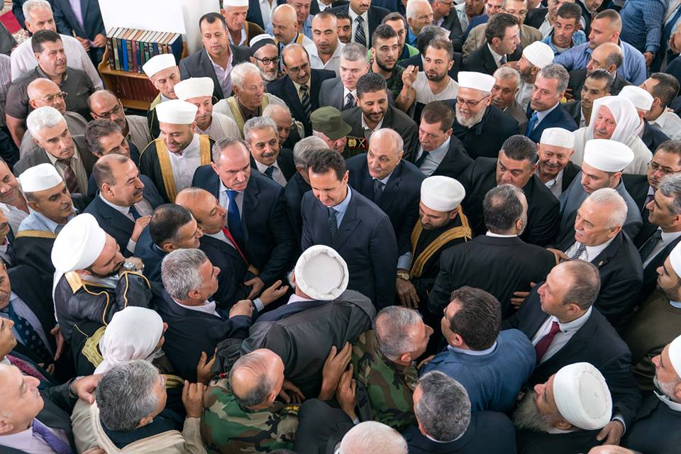 Photo of الرئيس الأسد يؤدي صلاة عيد الفطر في رحاب جامع السيدة خديجة بطرطوس