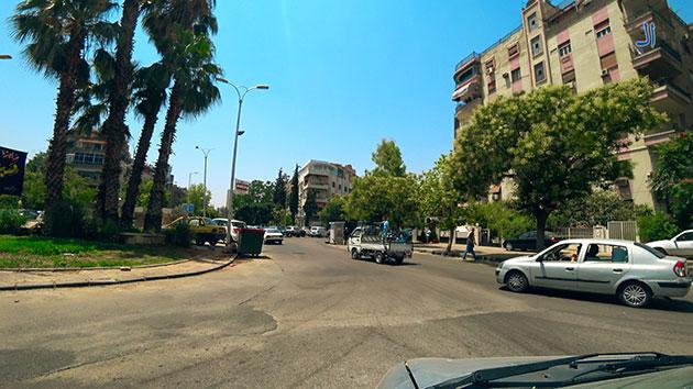 صورة جولة في شوارع دمشق ظهر اليوم 4-7-2018