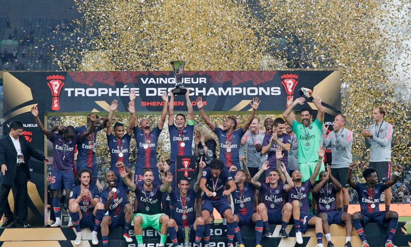 صورة باريس سان جيرمان يحقق لقب السوبر الفرنسي على حساب موناكو
