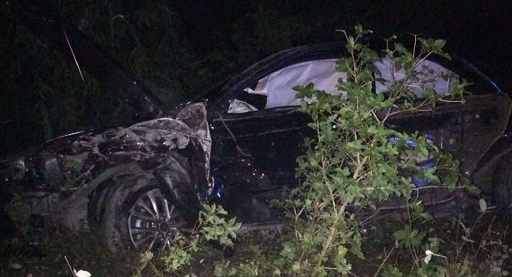صورة هكذا وقع حادث السير الذي أسفر عن مصرع رئيس وزراء أبخازيا