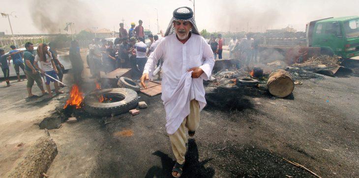 "Photo of الحشد يصف مفتعلي العنف في البصرة بـ""المسيئين"" ويتوعد بمعاملتهم كالدواعش"
